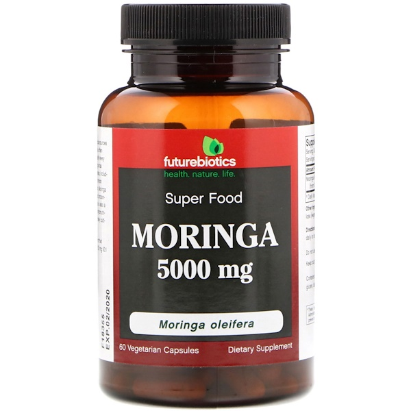 FutureBiotics, Moringa, 5000 mg, 60 Vegetarian Capsules