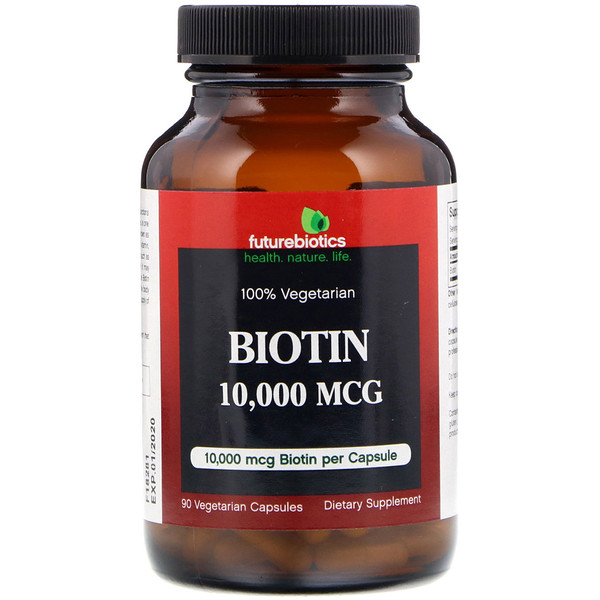 FutureBiotics, Biotin, 10,000 mcg, 90 Vegetarian Capsules (Discontinued Item)