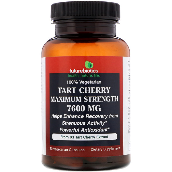 FutureBiotics, Tart Cherry, Maximum Strength, 7,600 mg, 60 Vegetarian Capsules