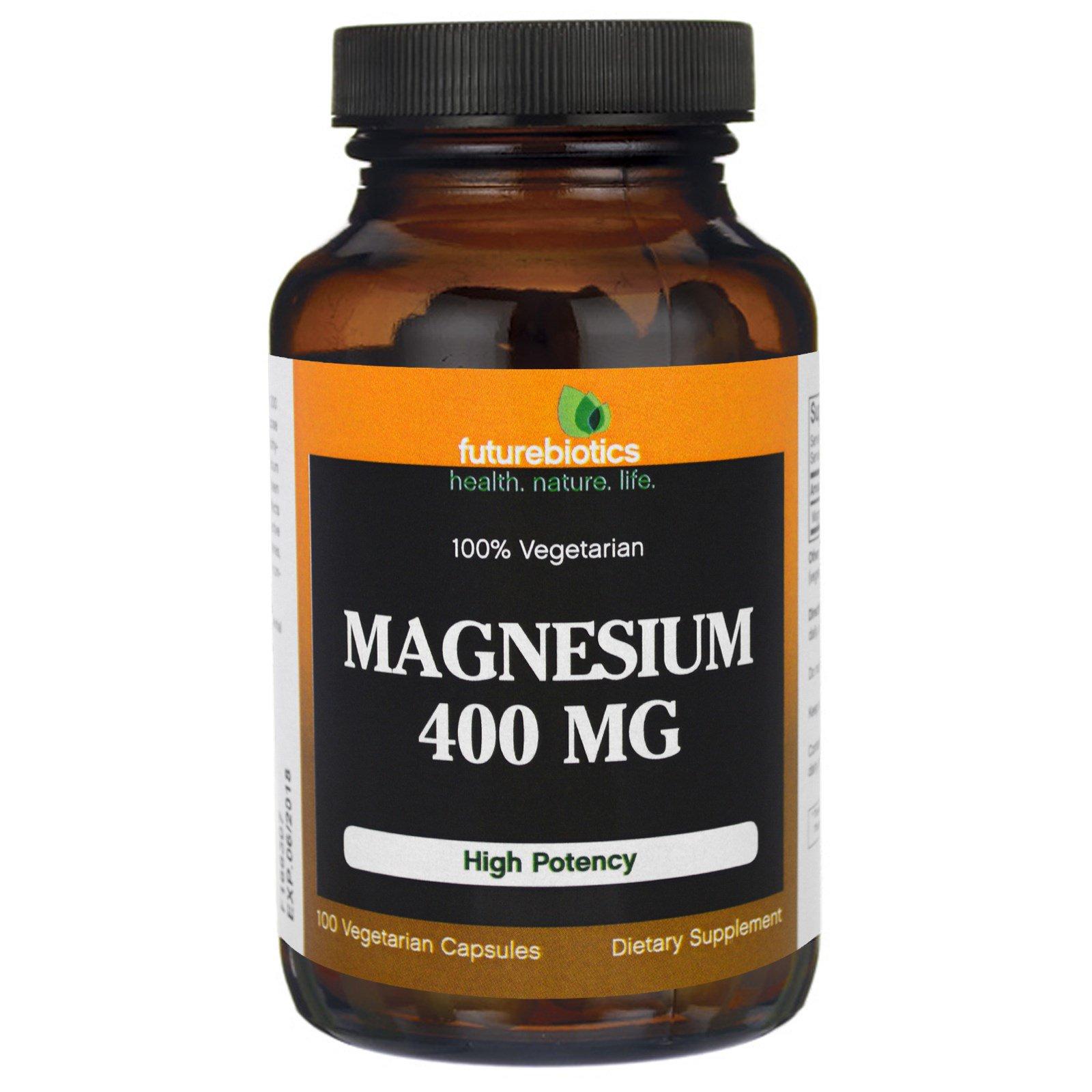FutureBiotics, Магний, 400 мг, 100 Растительных капсул