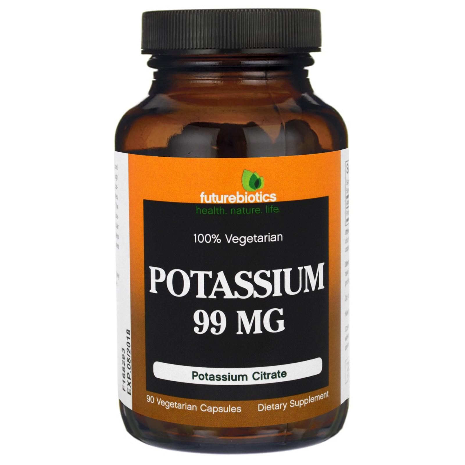 FutureBiotics, Калий, 99 мг, 90 Растительных капсул