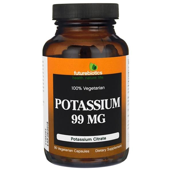 FutureBiotics, Potassium, 99 mg , 90 Veggie Caps (Discontinued Item)
