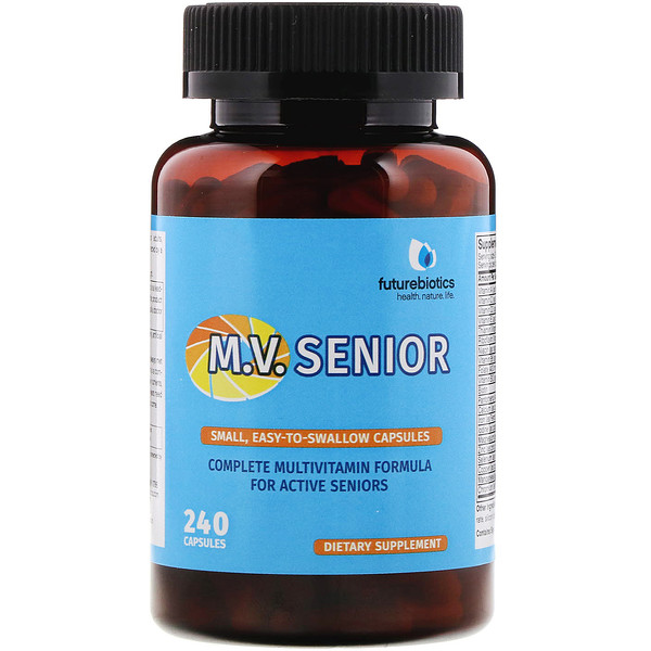 FutureBiotics, M.V. Senior, Complete Multivitamin Formula, 240 Capsules