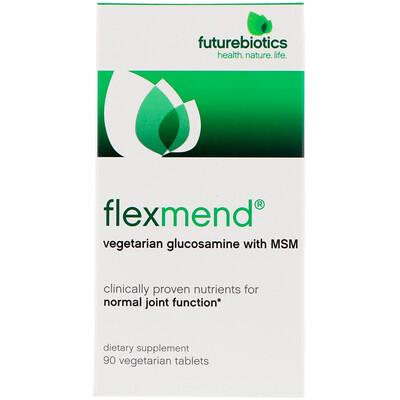 FlexMend, вегетарианский глюкозамин с МСМ, 90 вегетарианских капсул