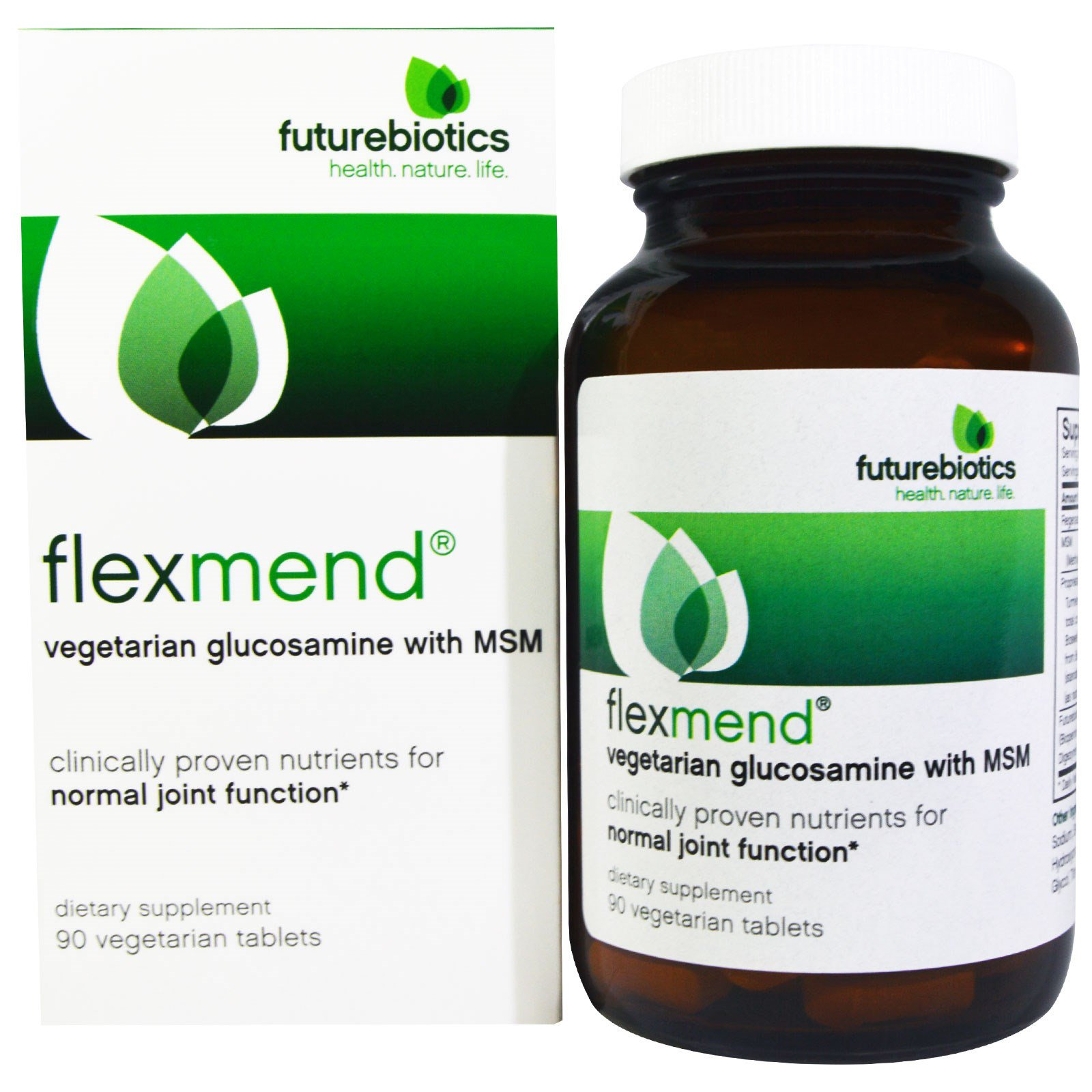 FutureBiotics, FlexMend, вегетарианский глюкозамин с МСМ, 90 вегетарианских капсул