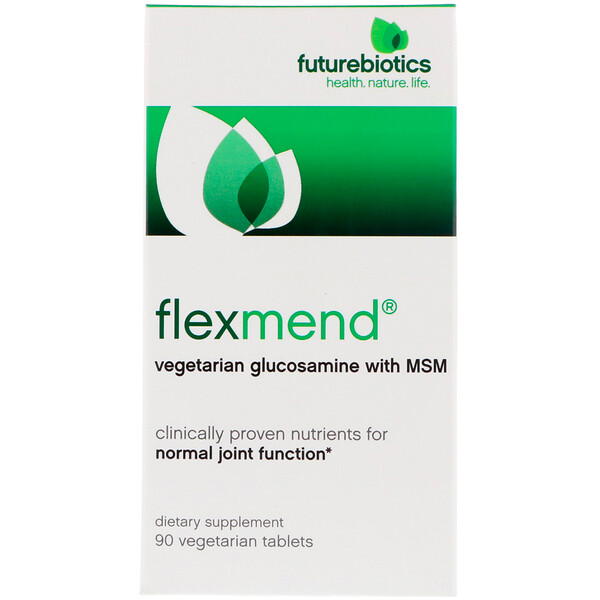 FutureBiotics, FlexMend, Vegetarian Glucosamine With MSM, 90 Vegetarian Tablets