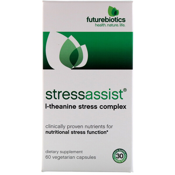 FutureBiotics, Stressassist, L-Theanine Stress Complex, 60 Vegetarian Capsules