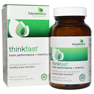 FutureBiotics, ThinkFast, Brain Performance + Memory, 60 Veggie Caps