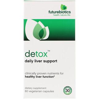 FutureBiotics, Detox, Apoio Diário ao Fígado , 60 Cápsulas Vegetais