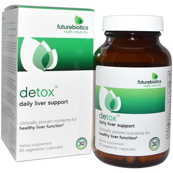 FutureBiotics, Detox, Daily Liver Support , 60 Veggie Caps
