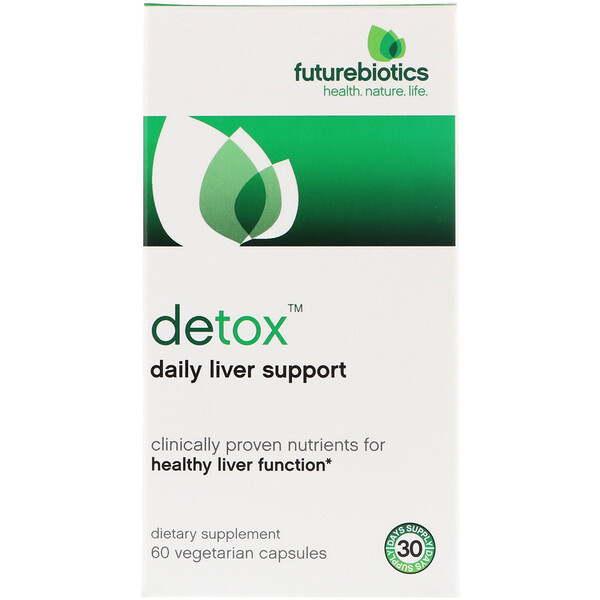 FutureBiotics, Detox, Daily Liver Support, 60 Vegetarian Capsules