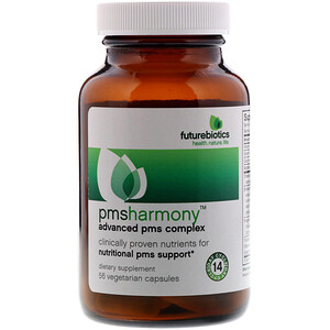 Фьючербайотикс, PMSHarmony, Advanced PMS Complex, 56 Vegetarian Capsules отзывы