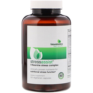 FutureBiotics, StressAssist, L-Theanine Stress Complex, 120 Vegetarian Capsules