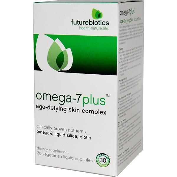 FutureBiotics, Omega-7plus, Age-Defying Skin Complex, 30 Veggie Liquid Caps (Discontinued Item)