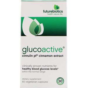 Фьючербайотикс, GlucoActive, Cinnulin PF Cinnamon Extract,  60 Veggie Caps отзывы