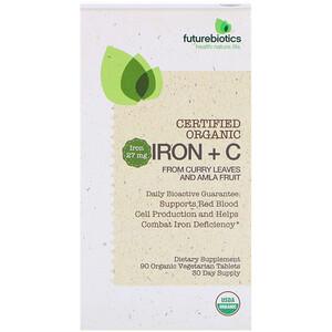 Фьючербайотикс, Certified Organic Iron + C, 90 Organic Vegetarian Tablets отзывы покупателей