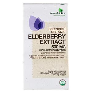 Фьючербайотикс, Elderberry Extract, 500 mg, 60 Organic Vegetarian Tablets отзывы