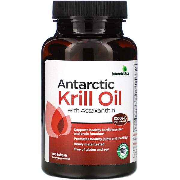FutureBiotics, Antarctic Krill Oil with Astaxanthin, 1,000 mg, 180 Softgels