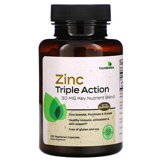 FutureBiotics, Zinc Triple Action, 30 mg, 150 Vegetarian Capsules