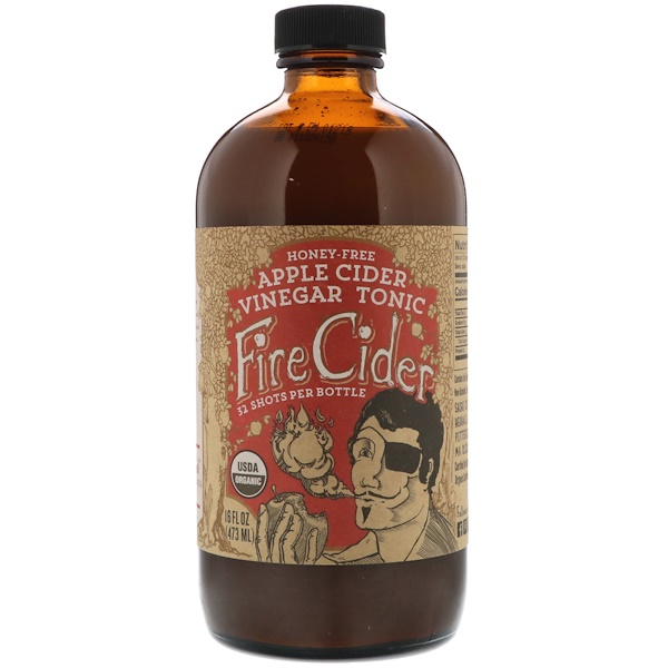 Fire Cider, Apple Cider Vinegar Tonic, Honey-Free, 16 fl oz (473 ml)
