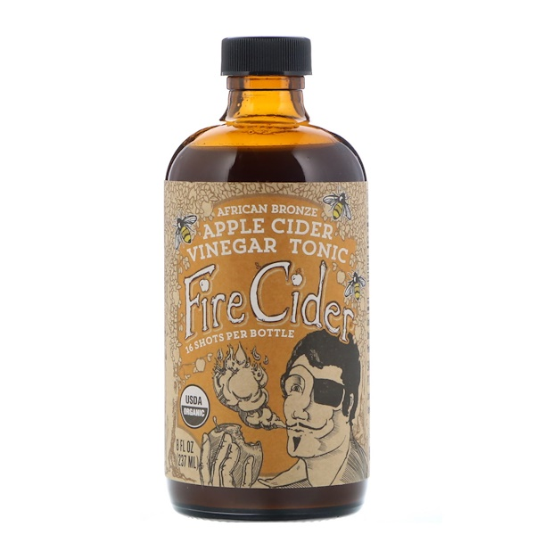 Fire Cider, Apple Cider Vinegar Tonic, African Bronze Honey, 8 fl oz (237 ml)
