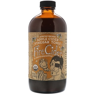 Fire Cider, Apple Cider Vinegar Tonic, African Bronze Honey , 16 fl oz (473 ml)