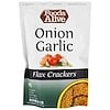 Foods Alive, Flax Crackers, Onion Garlic, 4 oz (113 g)