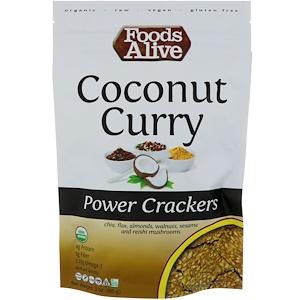 Фудс Алайф, Power Crackers, Coconut Curry, 3 oz (85 g) отзывы