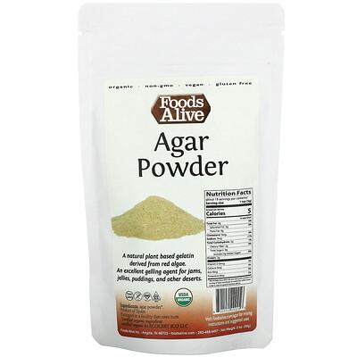 Купить Foods Alive Agar Powder, 2 oz (56 g)