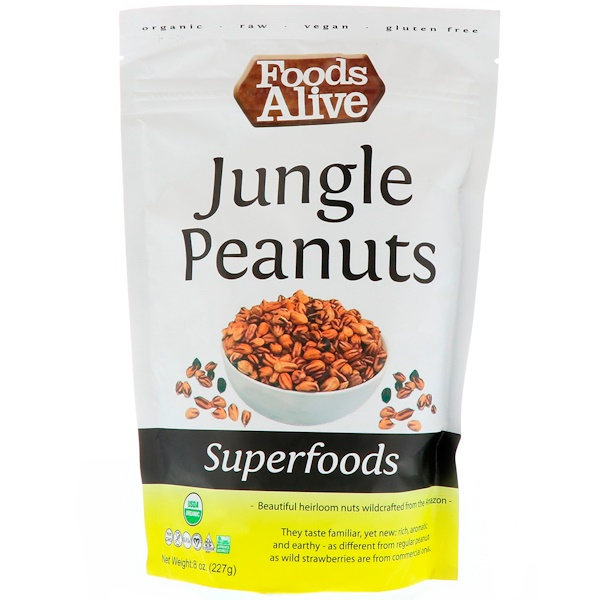 Superfoods, Jungle Peanuts, 8 oz (227 g)