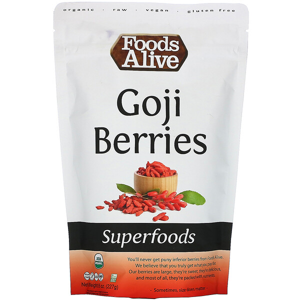 Foods Alive, Superfoods, Goji Berries, 8 oz (227 g)