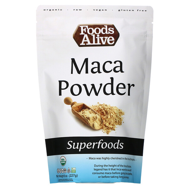Foods Alive, Superfoods, Maca Powder, 8 oz (227 g)