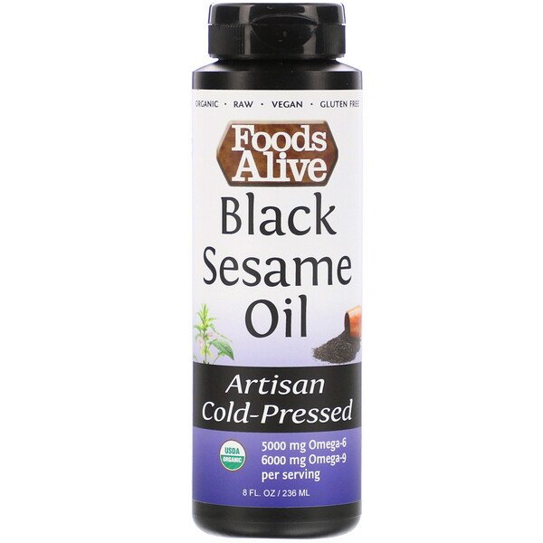 Artisan Cold-Pressed, Organic Black Sesame Oil, 8 fl oz (236 ml)