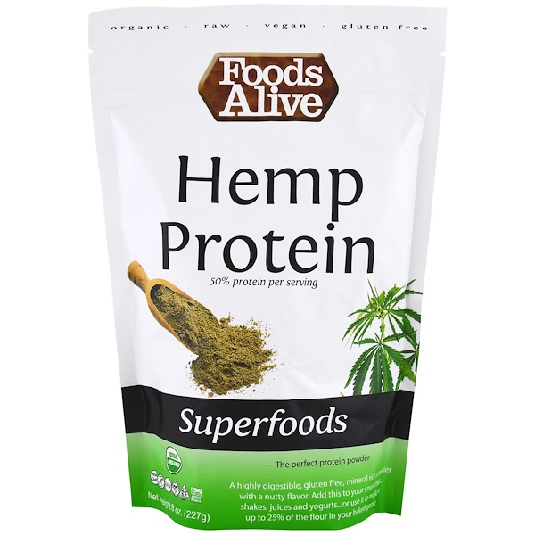Foods Alive, Organic, Superfoods, Hemp Protein Powder, 8 oz (227 g) (Discontinued Item)