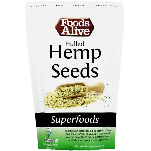 Superfoods, Hulled Hemp Seeds, 8 oz (227 g)