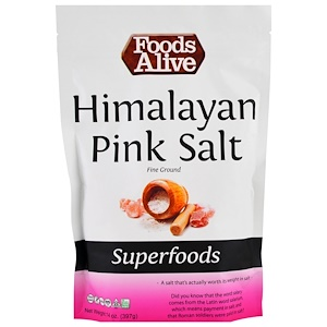 Фудс Алайф, Superfoods, Himalayan Pink Salt, Fine Ground, 14 oz (397 g) отзывы