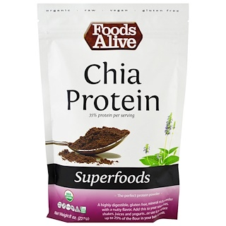 Foods Alive, Superfoods, Chia Protein Powder, 8 oz (227 g)