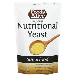 Foods Alive, Superalimento, Levadura nutricional no fortificada, 170g (6oz)