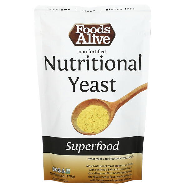 Foods Alive, Superfood, Non-Fortified Nutritional Yeast, 6 oz (170 g)
