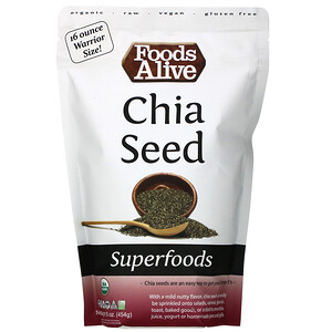 Foods Alive, Superfoods, Chia Seed, 16 oz (454 g)'