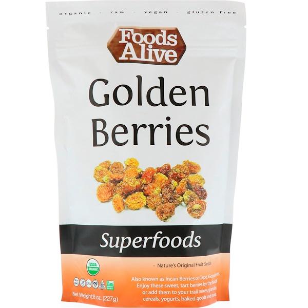 Foods Alive, Superfoods, Golden Berries, 8 oz (227 g) (Discontinued Item)