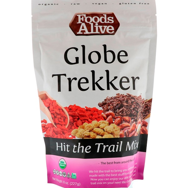 Foods Alive, Hit the Trail Mix, Globe Trekker, 8 oz (227 g)