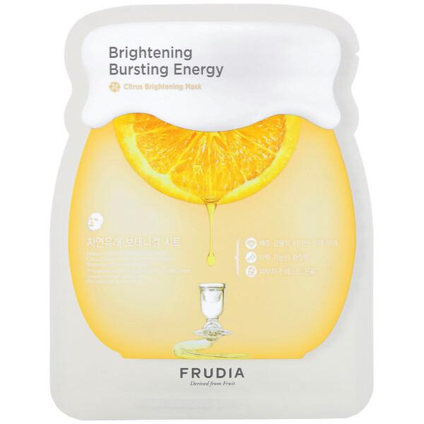 Frudia, Brightening Bursting Energy, Citrus Brightening Mask, 5 Sheets, 0.91 oz (27 ml) Each (Discontinued Item)