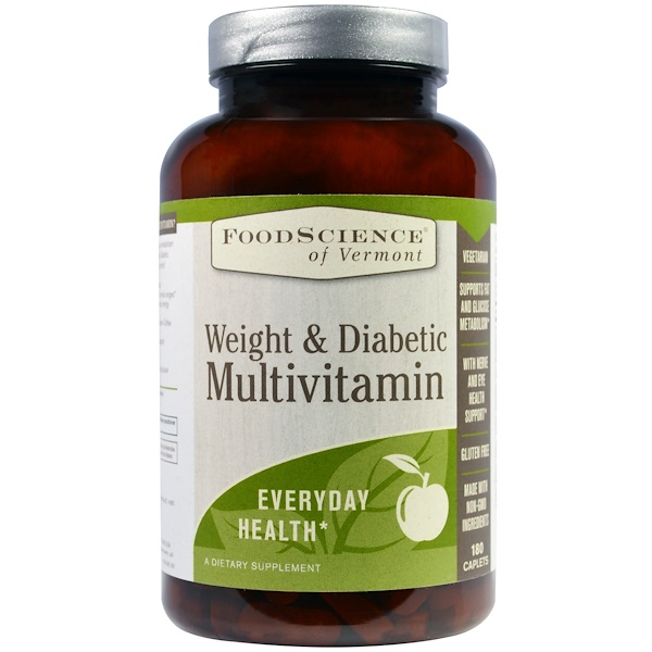 FoodScience, Weight & Diabetic Multivitamin, 180 Caplets (Discontinued Item)