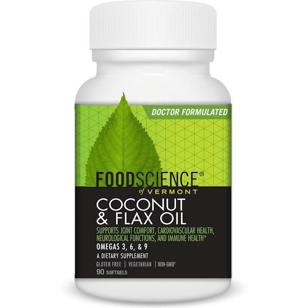 FoodScience, Coconut & Flax Oil, 90 Softgels (Discontinued Item)