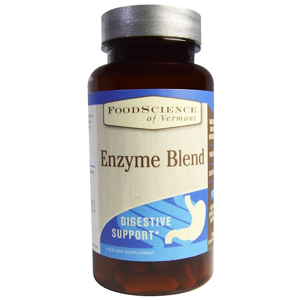 FoodScience, Enzyme Blend, Digestive Support, 90 Capsules (Discontinued Item)