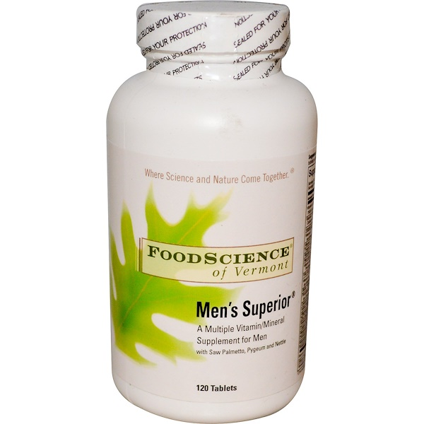 FoodScience, Men's Superior, A Multiple Vitamin/Mineral Supplement for Men, 120 Tablets (Discontinued Item)