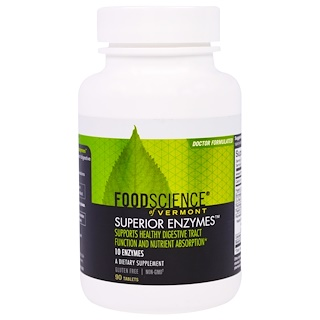 FoodScience, Of Vermont, All-Zyme, 90 Tablets