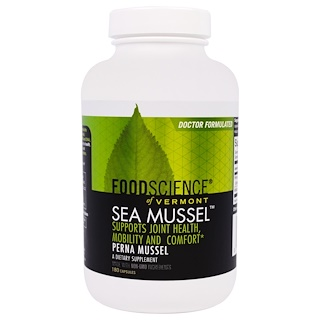 FoodScience, Sea Mussel, 180 Capsules