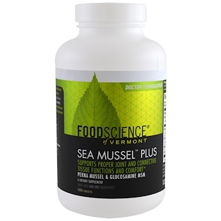 FoodScience, Sea Mussel Plus, 180 Tablets